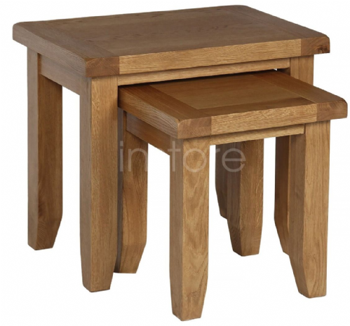Loxely Oak Nest of 2 Tables